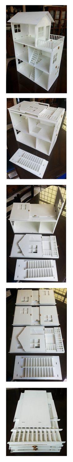 Casita de muñecas desarmable, diseñada por Rodrigo Guerra Cedeño