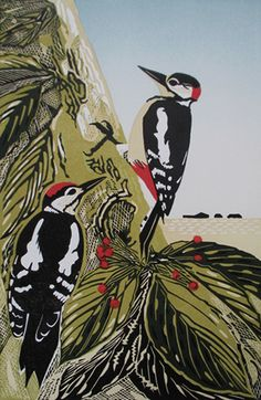 Woodpeckers - http://www.pamgrimmond.co.uk/