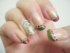 Christmas nail art  (Dec 2011) by yoBoonsiri