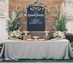 LOVE this look! Dessert table or bar