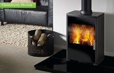 The Triton 450 Glass multifuel stove Suitable for free standing or within a Fireplace Mantel DEFRA approved for burning wood & anthracite in a smoke control area