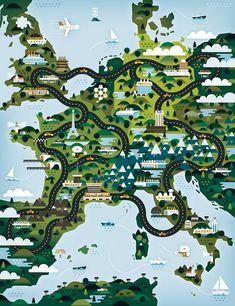 tour de europe / Khuan Cavemen Co.