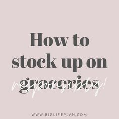 ✨ N E W  B L O G  P O S T ✨ • This weeks blog post is all about how to stock up on groceries in a socially and financially responsible way. • Check it out. Link is in the bio or head over to biglifeplan.com/blog • #moneymanagement #moneygoals #moneygoals2020 #budget #budgeting #spending #spendingplan #saving #savemoney #personalfinance #money #moneycoach #debtfree #debtfreegoals #finance #financialfreedom #financialdomination #financialindependence #moneyadvice #buildwealth #moneytips… Debt Free, Money Management, Money Tips, Check It Out, Personal Finance, Saving Money, No Response, Budgeting, How To Plan