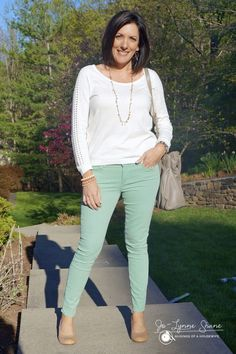 How to Style Pastel Jeans Click through for some great tips!! Jo-Lynne Shane