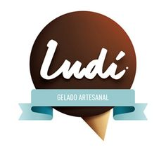 Logo for Ludi, a portuguese ice-cream parlour.  By Jorge Olino at Sans Xerif.