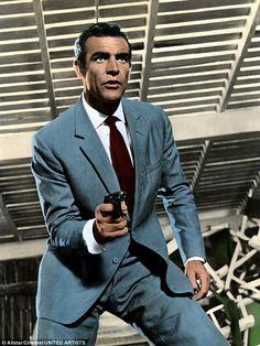 "sean connery as james bond in ""dr. no"" the best james bond. Casino Royale, Sean Connery James Bond, James Bond Style, Scottish Actors, Nude Portrait, Look Retro, James Bond Movies, Roger Moore, Bond Girls"