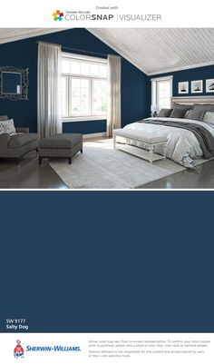 I found this color with ColorSnap® Visualizer for iPhone by Sherwin-Williams: Salty Dog (SW 9177).