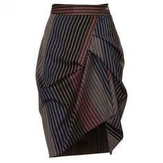 Vivienne Westwood Red Label Asymmetric Skirt Stripe