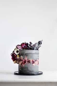 Masculine Floral Wedding Cake by LionHeart
