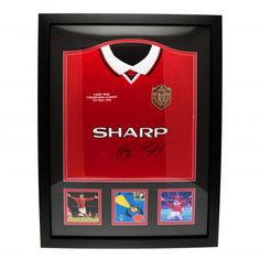 2c6943d1b Costco UK - Sheringham and Solskjaer Signed and Framed 1999 Manchester  United Champions League Final Replica Shirt
