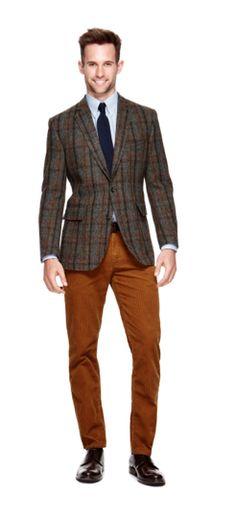 Stafford harris tweed plaid jacket #comingsoon #fallstyle