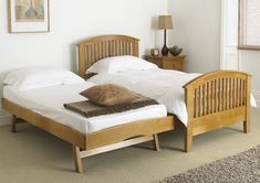 Mya Wooden Guest Single Bed & Trundle Bed Presenting clean, crisp ...