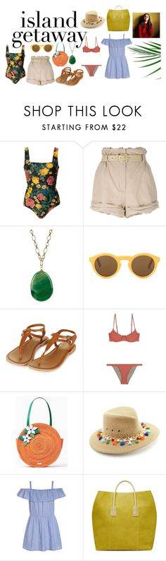 """""""summer"""" by janelllerose ❤ liked on Polyvore featuring FAUSTO PUGLISI, Moschino, CÉLINE, Topshop, Eric Javits and Abercrombie & Fitch"""
