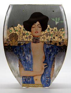Vase en verre Gustav Klimt : Judith, Goebel