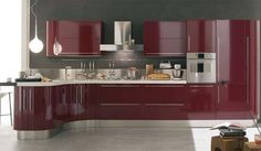 red glass kitchen island   kitchen island in modern kitchens of red and white magnolias   Kitchen ...