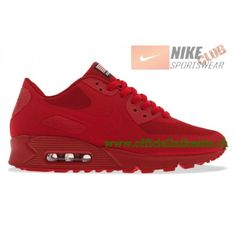 check out 972c8 a0a82 Nike Air Max 90 Hyperfuse Quickstrike GS Chaussures Nike Pas Cher Pour  Femme Rouge 613841-