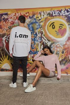 Shop our new fashion brand, i.am EL&N. Exclusively available online only. Fashion Brand, New Fashion, Slogan, Overalls, Product Launch, Unisex, London, Couple Photos, Shopping