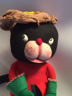 Vintage Early 1940s From Germany Felt Puss N Boots? Robin Hood? Cat. Damaged Hat