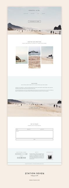 Say hello to the Coastal WordPress theme. A minimalist design paired with eComm . design - Say hello to the Coastal WordPress theme. A minimalist design paired with eComm The Effective Pictu - Layout Design, Layout Web, Design De Configuration, App Design, Website Layout, Website Ideas, Website Designs, Website Web, Modern Website