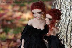 Dark wood Troll maiden sisters