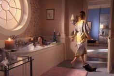 Blaires Bathroom Wohnungen, Gossip Girl Dekor, Gossip Girl Mode, Blair  Waldorf Schlafzimmer,
