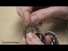 beadweaving circular brick stitch around a ring! I must try this!!