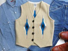 オルテガ 手織りチマヨ・ベスト 83RG-36288 サイズ36 サンドベージュ アメリカ製