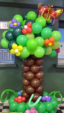 PALM TREE balloon decoration