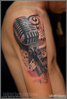 Music tattoo - Ink - Microphone - Old School