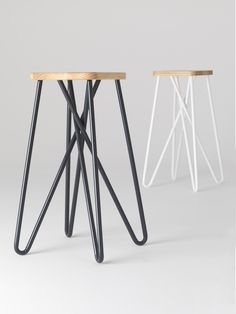 Loving these new Tangle bar stools by Clark Bardsley Design. The stool's looped legs provide a comfortable resting place for feet without the need for footrests. Welded Furniture, Iron Furniture, Furniture Legs, Industrial Furniture, Home Furniture, Furniture Design, Bar Chairs, Bar Stools, Structure Metal