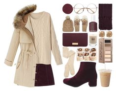 Beige & Burgundy by meaganmuffins on Polyvore featuring polyvore fashion style WithChic Oasis Boohoo Henri Bendel Topshop Chicnova Fashion Urban Decay Kevyn Aucoin Essie Baxter of California women's clothing women's fashion women female woman misses juniors