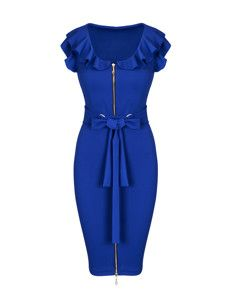 Buy Plain Polka Dot Small Lapel Bodycon-dress online with cheap prices and discover fashion Bodycon Dresses at Fashionmia.com.