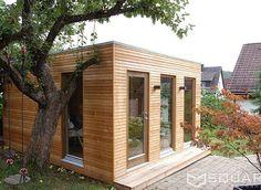 Die edle Außensauna mit Vorraum - Ihre private Wellness-Lounge für den Garten oder die Dachterrasse.