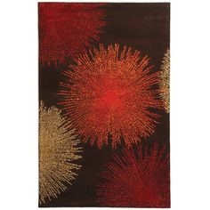 @Overstock - Art deco rug features a contemporary design perfect for your home decorArea rug displays a brown background with stunning gem tones of red, rust and ivoryFloor rug is hand-tufted from 100-percent New Zealand woolhttp://www.overstock.com/Home-Garden/Handmade-Soho-Burst-Brown-New-Zealand-Wool-Rug-6-x-9/3958028/product.html?CID=214117 $224.05