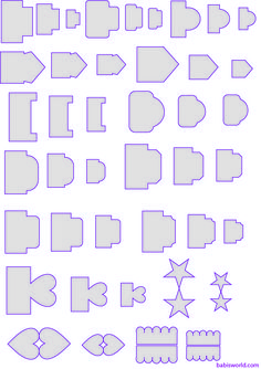 Templates for tags or tabs. For mini albums, journaling, scrapbooking, planners. Many choices on this page. Free
