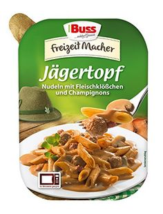 Buss J�gertopf - Nudeln mit Fleischkl��chen und Champignons, 12er Pack (12 x 300 g)