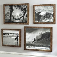PB Teen Black & White Surf Prints, Long Board at Pottery Barn Teen -... ($59) ❤ liked on Polyvore featuring home, home decor, wall art, beach wall art, beach home decor, beach scene wall art, black and white palm trees and black and white home accessories