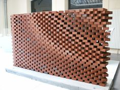 Brick - Jali Facade using Grasshopper Brick Architecture, Architecture Details, Interior Architecture, Brick Cladding, Brick Facade, Brick Design, Facade Design, Deco Design, Wall Design