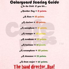 Colorguard scoring guide Jr. Ringer T-Shirt