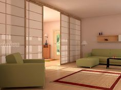 Japanese sliding doors are popular type of sliding doors that provides unique design and oriental look. Check for more amazing designs of Japanese sliding doors Sliding Door Room Dividers, Sliding Screen Doors, Room Divider Doors, Sliding Wall, Closet Doors, Living Room Sliding Doors, Sliding Panels, Room Doors, Japanese Sliding Doors
