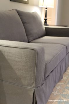 A heavyweight cotton-poly canvas slipcover. Durable, washable and tailored to fit.