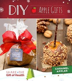 Bring a little joy to the snack table with DIY Holiday Caramel Apples. #DIYAppleGifts