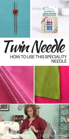 A Twin needle is created from two sewing machine needles attached to one shaft with a plastic bridge connector. check out how to use this speciality needle in your sewing projects. The Sewing Loft