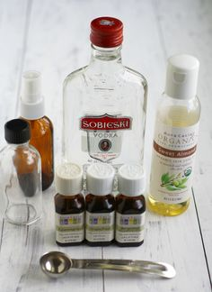 The Pretty Bee's guide to homemade perfume with essential oils ~~~~ this mixture seems better than the others. My linen spray mix calls for Vodka too and you can just buy the cheapest there is.