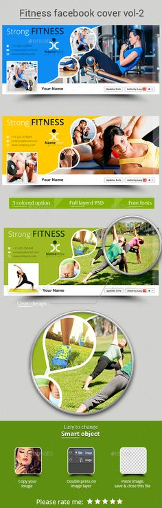 Fitness Facebook Cover Template PSD #design Download: http://graphicriver.net/item/fitness-facebook-cover-vol-2/13183043?ref=ksioks