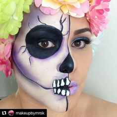 @makeupbymrsk really gets us in the spirit with her half Day of the Dead skull look using Madly Matte Lip Gloss in French Lilac (1618) and the Eyebrows Essential Kit in Ash Brown (EBK114)! #kleancolor #repost #dayofthedead #skull #halloween #halloweenmakeup #halloweenspirit #spookypretty #madlymatte #matte #madlymattelipgloss #lipgloss #frenchlilac #lips #eyebrows #brows #eyebrowsessentialkit #ashbrown #mua #makeup #cosmetics #beauty