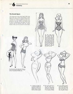 Famous Artists Cartoon Course > Lesson 6 OF Anatomy Drawing Reference Poses, Drawing Sketches, Art Reference, Animation Reference, Pin Up Cartoons, Animated Cartoons, Cartoon Drawing Tutorial, Cartoon Drawings, Drawing Techniques