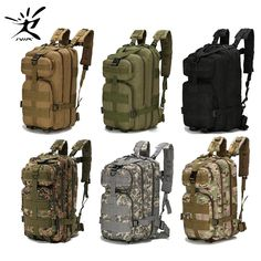 Nylon Tactical Backpack Military Backpack Waterproof Army Rucksack Outdoor Sports Camping Hiking Fishing Hunting Bag - Sport im Freien Molle Rucksack, Army Rucksack, Rucksack Backpack, Duffel Bag, Fishing Backpack, Climbing Backpack, Backpack Camping, Travel Backpack, Backpack Cooler