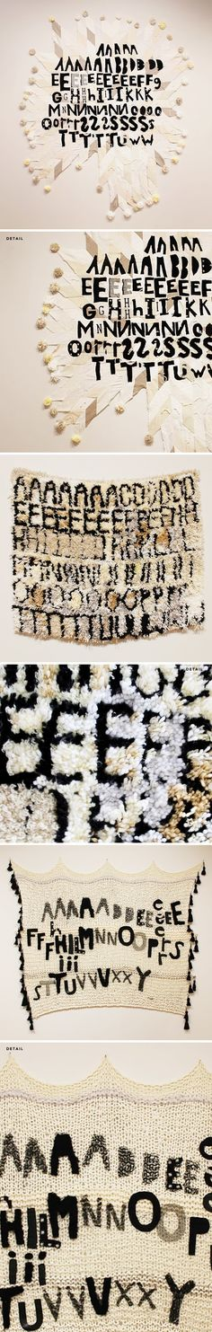 scrambled confessions/secrets in textile form - by hannah ruth hughes (I WANT TO KNOW THE SECRETS!)