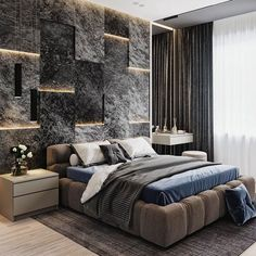 What're your thoughts on this design? Luxury Bedroom Design, Master Bedroom Design, Interior Design, Beautiful Bedroom Designs, Beautiful Bedrooms, Morden Bedroom, Big Bedrooms, Luxury Homes Dream Houses, Bedroom Styles